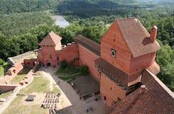 城堡turaida 免版税库存图片