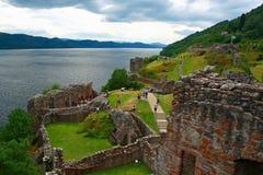 城堡urqhart 免版税库存图片