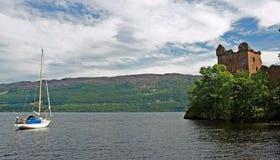 城堡urqhart 免版税图库摄影