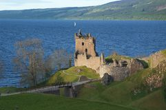 城堡urquhart 库存图片