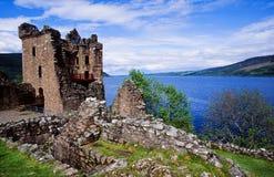 城堡urquhart 库存照片