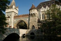 城堡vajdahunyad 库存照片