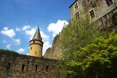 城堡vianden 免版税图库摄影