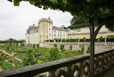 城堡villandry的Loire Valley 免版税库存照片
