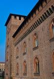 城堡visconti 库存图片