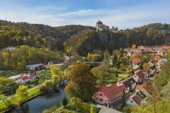 城堡Vranov nad Dyji在捷克 免版税库存图片