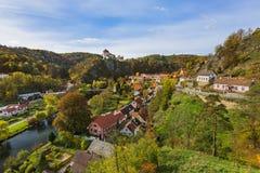 城堡Vranov nad Dyji在捷克 库存图片