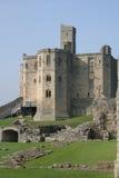 城堡warkworth 图库摄影