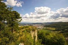 城堡Wartenbert在村庄穆滕茨 图库摄影