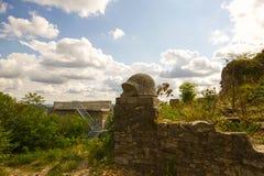 城堡Wartenbert在村庄穆滕茨 免版税图库摄影