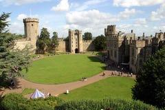 城堡warwick 库存照片