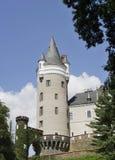 城堡Zleby在波希米亚 库存图片