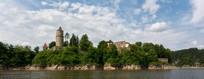 城堡Zvikov 免版税图库摄影