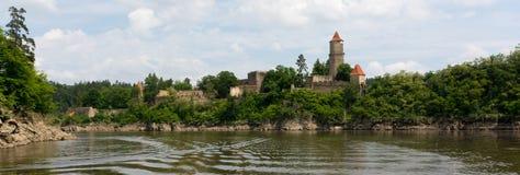 城堡Zvikov 免版税库存图片