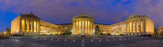 费城宾夕法尼亚艺术馆全景  免版税库存图片