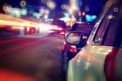 城市†‹â€ ‹汽车通行阻塞 免版税库存照片