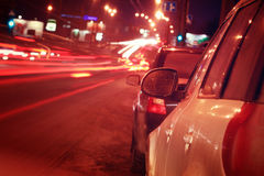 城市†‹â€ ‹汽车通行阻塞 免版税图库摄影