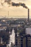 城市†‹产业†‹ 免版税库存照片