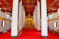 Wat Phra点燃phayao区的Sri 免版税库存图片