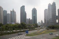 城市上海Lujiazhui地区 免版税库存图片