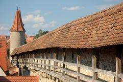 城市中世纪城镇墙壁 免版税图库摄影