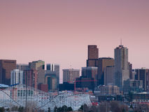 城市丹佛高英里 图库摄影