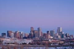城市丹佛高英里 库存图片