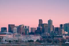 城市丹佛高英里 免版税库存照片
