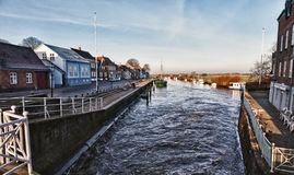 城市丹麦ribe 库存图片