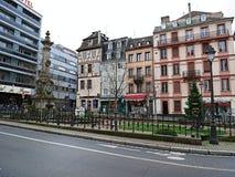 城市为圣诞节装饰 库存图片