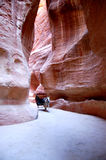 城市乔丹失去的petra岩石 免版税库存照片