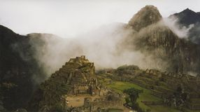城市云彩machu秘鲁pichu 图库摄影