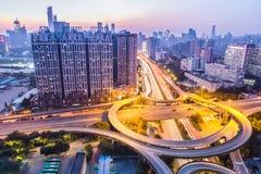 城市互换天桥 库存照片