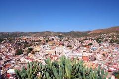 城市五颜六色的guanajuato 免版税图库摄影