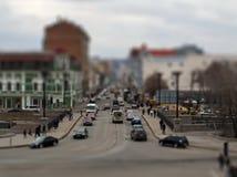 城市交叉路 掀动转移技术 库存照片