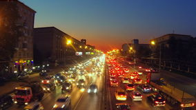 城市交通在莫斯科 股票视频