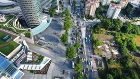 城市交通4K空中射击  影视素材