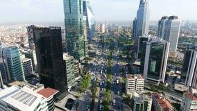 城市交通4K空中射击  股票视频