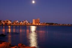城市亲切的晚上手段 免版税库存照片