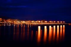 城市亲切的晚上手段 免版税图库摄影