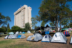 城市以色列帐篷 免版税图库摄影