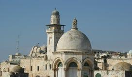 城市以色列老耶路撒冷 免版税库存照片