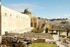 城市以色列老耶路撒冷 免版税图库摄影