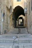 城市以色列耶路撒冷老路径 免版税库存图片