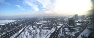 城市伦敦冬天 库存照片