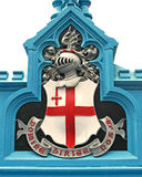 城市伦敦盾 免版税库存照片