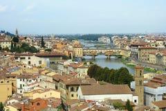 城市佛罗伦萨全景 图库摄影