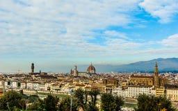 城市佛罗伦萨视图 库存照片