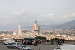 城市佛罗伦萨风景视图 免版税图库摄影