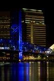 城市佛罗里达杰克逊维尔晚上 免版税库存照片